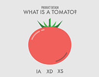 Product Design: What is a Tomato? IA, XD, XS