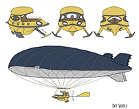 Vehicles design - Sky whale, airship
