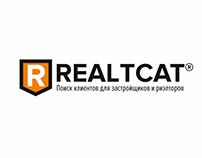 Логотип REALTCAT. Лендинг.