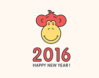 【每日一作】猴年2016。嘘!这不是猩猩。