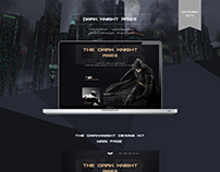 UX Web Design - Batman Dark Knight