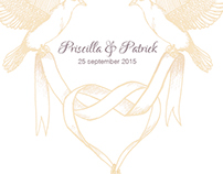 Wedding invitation - Priscilla & Patrick