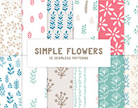 Simple flowers collection