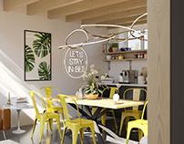 Kitchen & Dining CGI
