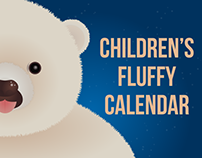 A preview of children's fluffy animals calendar.