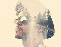 Long Hard Road - Double Exposure Portrait