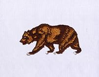 BEAUTIFUL BROWN BEAR EMBROIDERY DESIGN