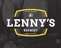 Lenny's Brewery Logo & Branding