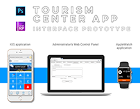 Tourism Center App Interface prototype UX-copywrite