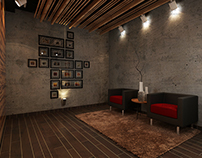 Interior Design Contrast Color Walls With Colored Roof