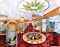 90s Interior design night club 1