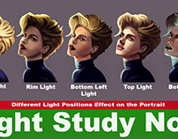 Portrait study under different lighting directions
