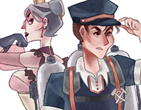 Ragged Riches - Character Designs