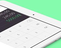 Mobile point of sale app UI design
