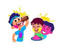 Holi Hai! Animated stickers for Hike Messenger