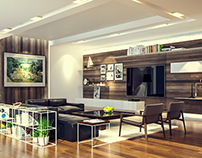 3D rendering - Living room