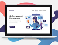 Online Support Vector Free Illustration