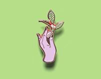 """Enamel pin """"The plant thief"""""""