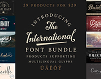 THE INTERNATIONAL FONT BUNDLE - LIMITED TIME ONLY