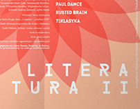 Plakat festiwalu Literatura II