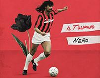 Tulipano Nero - Illustration - Ruud Gullit, AC Milan