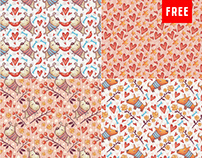 4 Adorable & Free Seamless Patterns