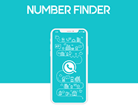 Number Finder Mobil App Design