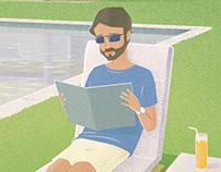 Summer Editorial Illustration