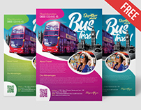 Free Bus Travel Flyer Template