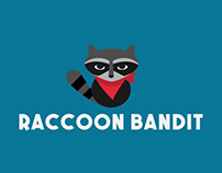 Raccoon Bandit Logo Design