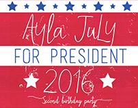 Birthday Party Invite. Graphic Design.