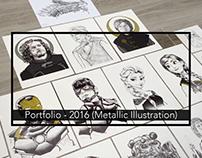 Portfolio: 2016 Illustration (Film/TV Portraits)