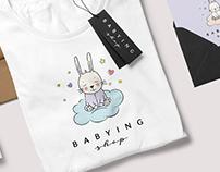 Логотип и фирменный стиль магазина детской одежды.