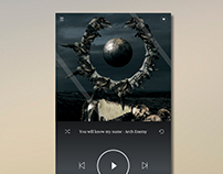 Dailyui - #009 Music Player