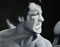 Punch - Oil on canvas - Rocky style