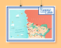 Luzita Norte - Travel map of North Portugal