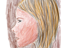 Color portrait experiment from a magazine advertisement
