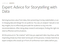 Expert Advice for Storytelling with Data