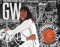 Jonquel Jones — GW Magazine Winter 2016 Cover