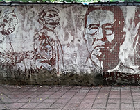 Wall painting: pay homage to the anti epidemic hero
