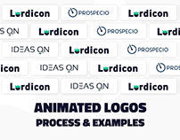 Interactive logo animation