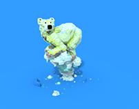Polar Bear - Voxel