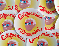 Bernie Sanders California Dreamin' Sticker Design