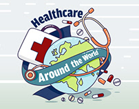 Healthcare Around the World - Infographic Design