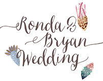 Ronda & Bryan Wedding Invitation and Web Design
