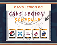 Cavs Legion GC Work 2019