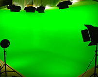 Post producción sobre pantalla verde