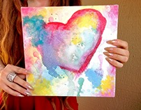 Spattered Heart