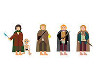 Lord of the Ring / The Hobbit Character Illustration