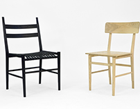Blond and Noir Chair